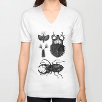 insects V-neck T-shirts featuring Insects by Ejaculesc