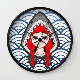 Shark Hood Wall Clock