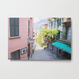 Bellagio stairway, Lake Como, Italy Metal Print