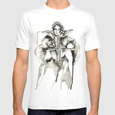 Your Majesty White Mens Fitted Tee MEDIUM