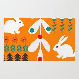 Sweet Christmas bunnies Rug