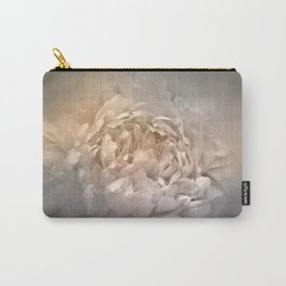 Blushing Silver and Gold Peony - Floral Carry-All Pouch