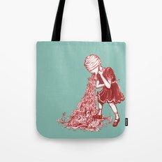 Floral Vomit Tote Bag