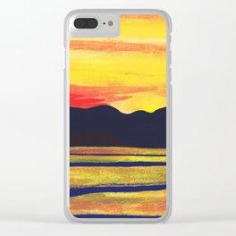 Salish Sea Sunset Clear iPhone Case