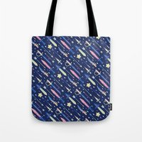 arsenal Tote Bags featuring Magical Weapons by LordofMasks