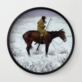 "Frederic Remington Western Art ""The Herd Boy"" Wall Clock"