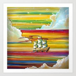 Off To Neverland! Art Print