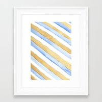 stripe Framed Art Prints featuring Stripe by Louise Kjeldsen