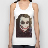the joker Tank Tops featuring joker by DeMoose_Art