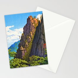 Kawase Hasui - The Eight Views Of Korea, Samburam Rock, Kumgang Mountain Stationery Cards