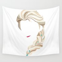 elsa Wall Tapestries featuring Elsa by Bethany Mallick