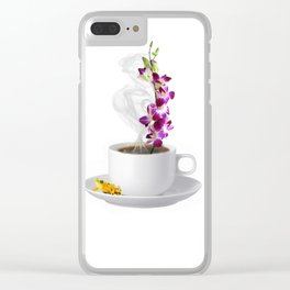 Not a Date Just Coffee Clear iPhone Case