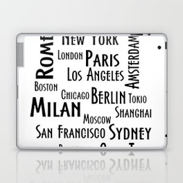 New York, Los Angeles and others city . Fashion Chic Home Decor Graphicdesign Laptop & iPad Skin