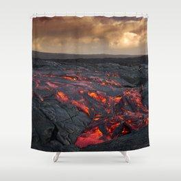 Kamukona (61g) Lava on the Big Island, Hawaii Shower Curtain