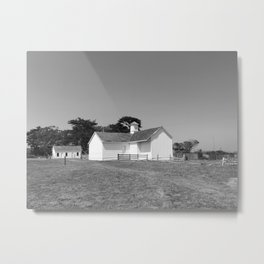SUMMER RANCH II (B+W) Metal Print
