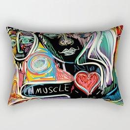 Muscle is Life Street Art Graffiti Love Rectangular Pillow
