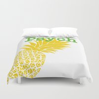 psych Duvet Covers featuring Minimalist Psych  by Canis Picta
