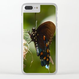 Mimosa & swallowtail Clear iPhone Case