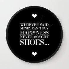 happiness black Wall Clock