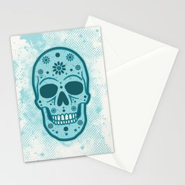 Sugar Skull Blues Stationery Cards