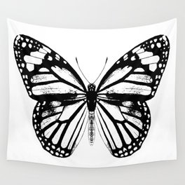 Monarch Butterfly | Vintage Butterfly | Black and White | Wall Tapestry