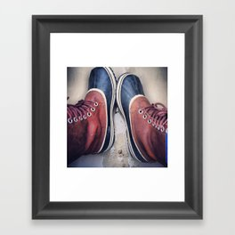 hidden heart Framed Art Print