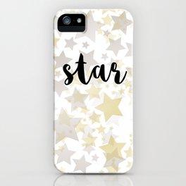 Golden Stars iPhone Case