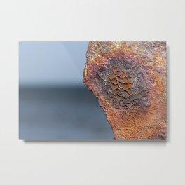 Rust on the HMQS Gayundah shipwreck Metal Print