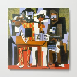 Pablo Picasso Three Musicians Metal Print