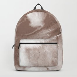 Brown Marble Design Backpack