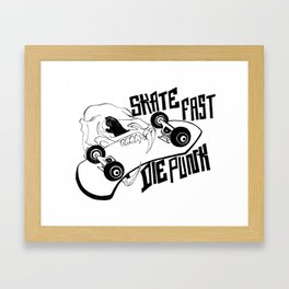Rat Skull / Skate Fast / Die Punk Framed Art Print