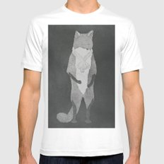 Fox Fur Mens Fitted Tee White MEDIUM