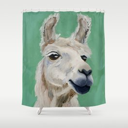 Fluffy White Wise One Shower Curtain