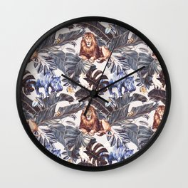 Wild nature - details Wall Clock