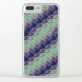 Geometric Pastels Clear iPhone Case