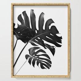 Tropical Monstera Finesse #2 #minimal #decor #art #society6 Serving Tray