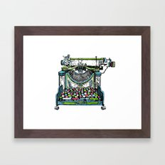 Fantastic Typewriter Framed Art Print
