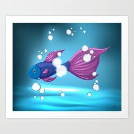 Bubble Fish Art Print