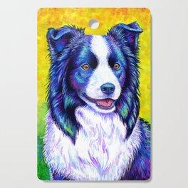 Colorful Border Collie Dog Cutting Board