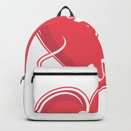 Family Heart Love Friends Group Hold Gift Backpack