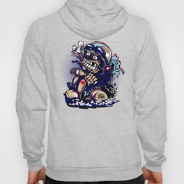 Smoke Skull Driver Moped - Navy Hoody