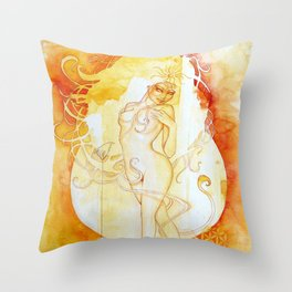Goddess of Leo - A Fire Element Throw Pillow