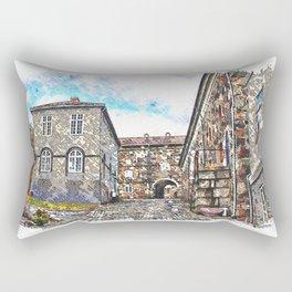 Inside Fredriksten fortress Halden in Norway Rectangular Pillow