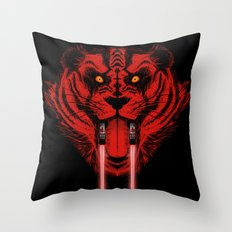 Dark Side Saber-Toothed Tiger Throw Pillow