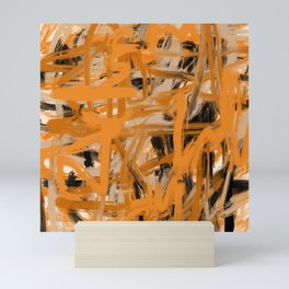Orange & Taupe Abstract Mini Art Print