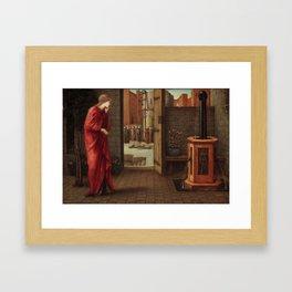 "Edward Burne-Jones ""Danaë Watching the Building of the Brazen Tower"" Framed Art Print"