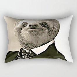 Gentleman Sloth with nice posture Rectangular Pillow