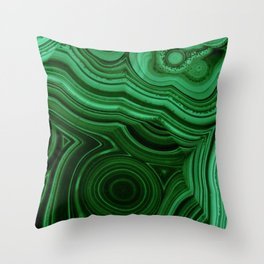 GREEN MALACHITE STONE PATTERN Throw Pillow