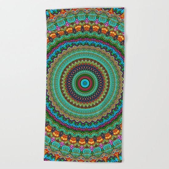 bohemian rhapsody  Mandala Beach Towel