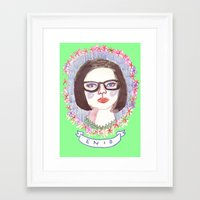 ghost world Framed Art Prints featuring Ghost World by EmilyScribbles